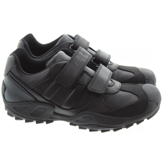 GEOX Kids New Savage Velcro Shoes in Black