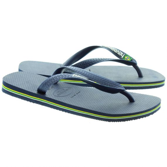 HAVAIANAS Brazil Logo Toe Post Sandals in Navy