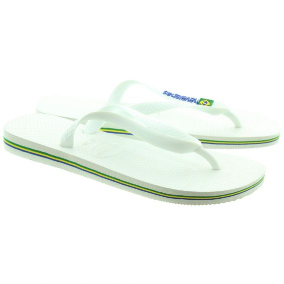 HAVAIANAS Brazil Logo Toe Post Sandals in White
