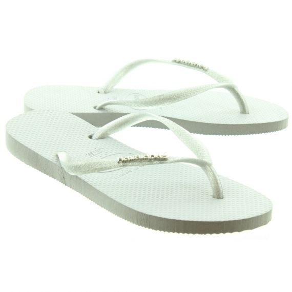HAVAIANAS Ladies Slim Logo Metal Sandals In Grey