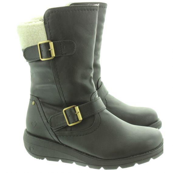 HEAVENLY FEET Ladies Pacific 2 Calf Boots In Black