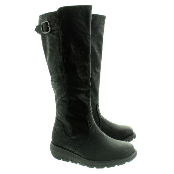 HEAVENLY FEET Ladies Saturn2 Knee Boots In Black