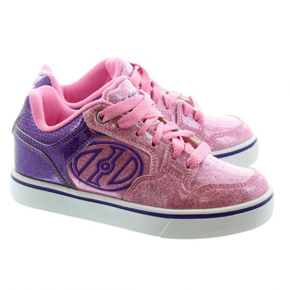 HEELYS Kids Motion Plus 770541H Heelys Trainers In Pink Glitter