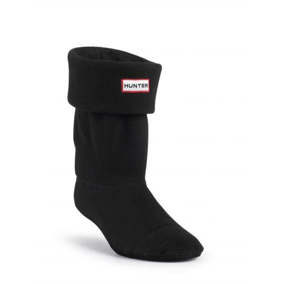 HUNTER Adults Fleece Welly Socks In Black