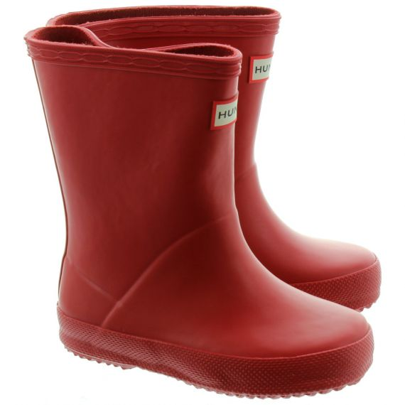 HUNTER Kids First Wellies in Red