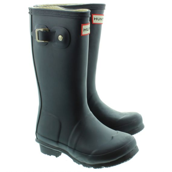 HUNTER Kids Rubber Young Hunter Wellingtons in Navy