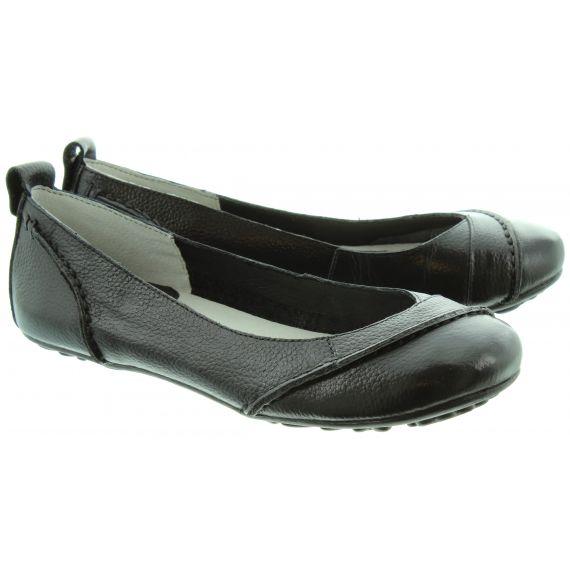 HUSH_PUPPIES Janessa Flat Leather Pump in Black