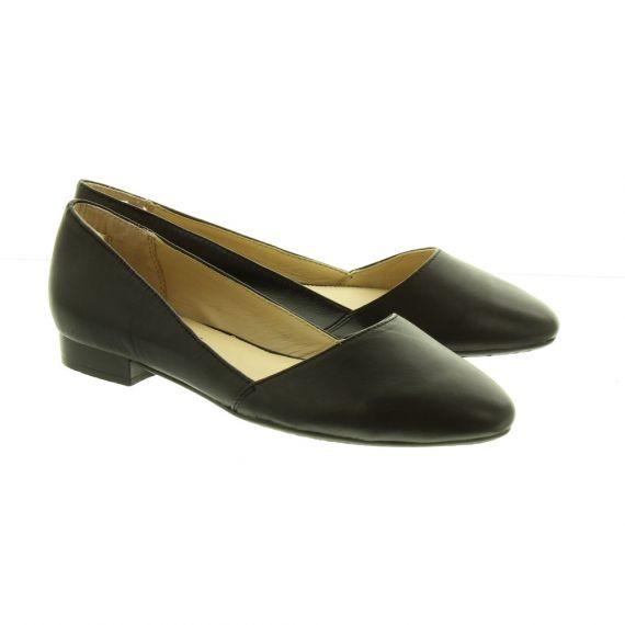 HUSH_PUPPIES Ladies Jovanna Flat Shoes In Black