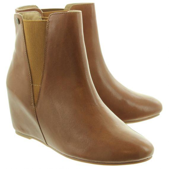HUSH PUPPIES Ladies Mytee Marloe Ankle Boots In Tan