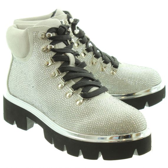INUOVO Ladies 20205 Diamante Boots In Silver