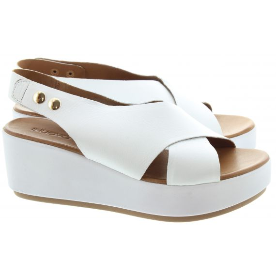 INUOVO Ladies 8697 Wedge Sandals In White