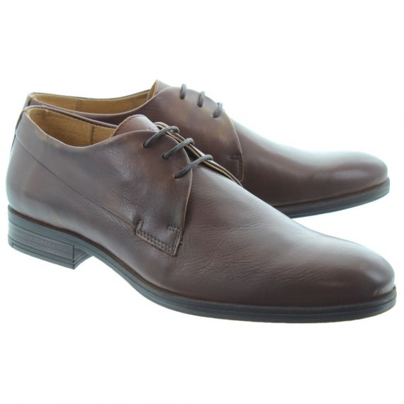 JACK_AND_JONES Mens Sammy Lace Shoes In Cognac