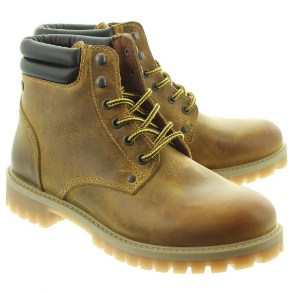 JACK_AND_JONES Mens Stoke Lace Boots In Natural
