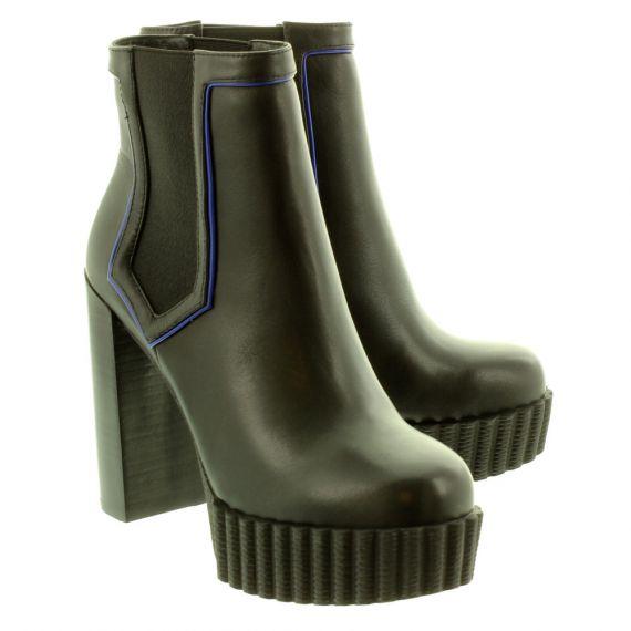 JAKE Ladies 307 Heeled Ankle Boots In Black