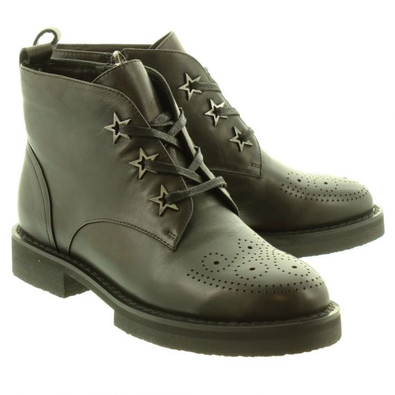 JAKE Ladies 308 Lace Ankle Boots In Black