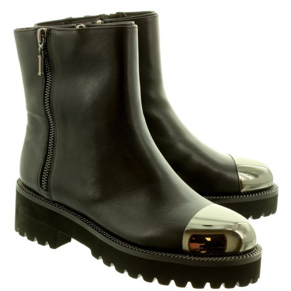 JAKE Ladies 709 Metallic Toe Capped Boots In Black