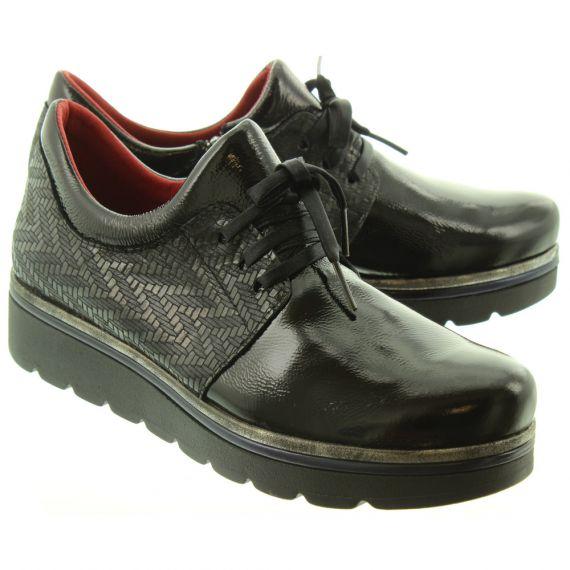 JOSE_SAENZ Ladies 2029 Lace Shoes In Black Patent