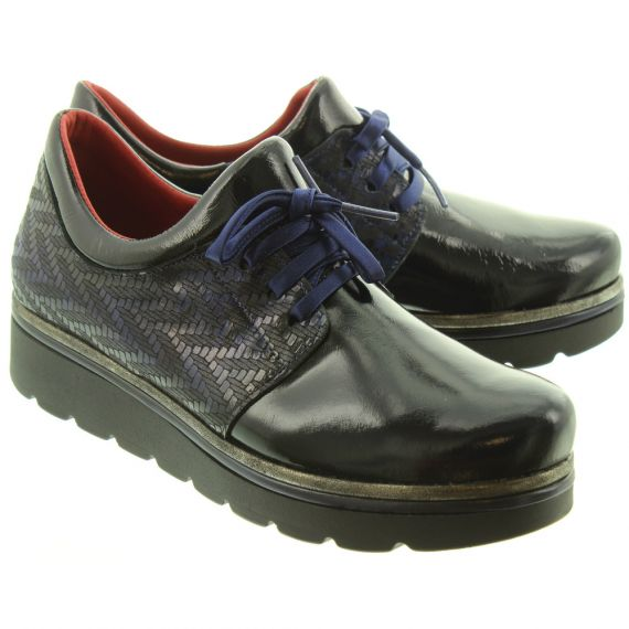 JOSE_SAENZ Ladies 2029 Lace Shoes In Navy Patent