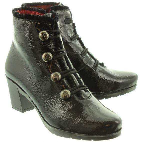 JOSE_SAENZ 5176 Ladies Button Boots In Black Patent