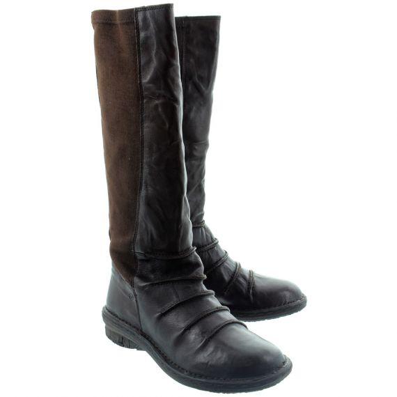 KHRIO Ladies 1004 Flat Knee Boots In Brown