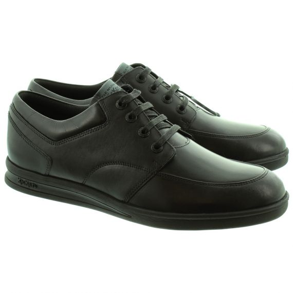 KICKERS Adults Troiko Lace Shoes In All Black