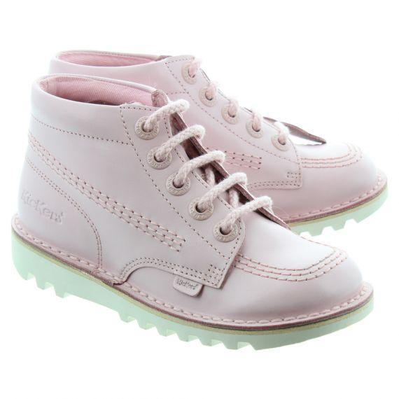 KICKERS Kick Hi Kids Boots In Chalk Pink