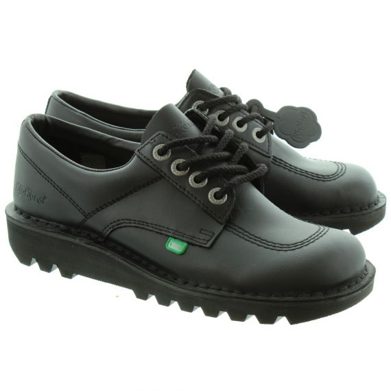 KICKERS Mens Kicklo Lace Shoes in Black