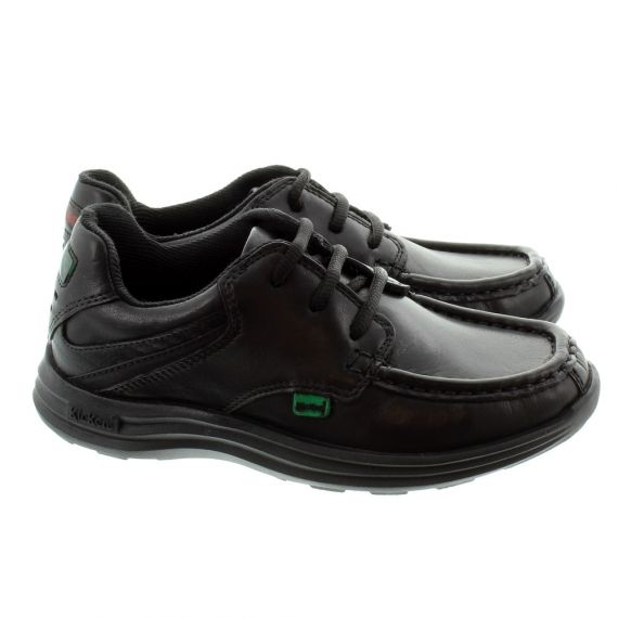 KICKERS Kid Reasan Lace Shoes In Black