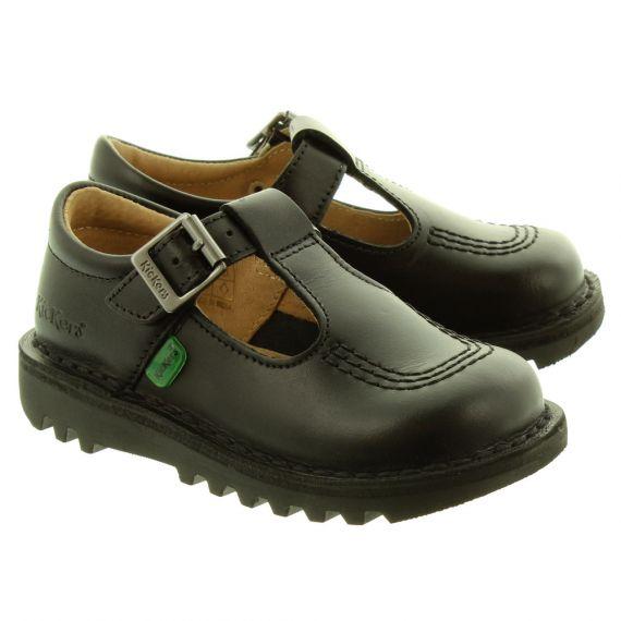 KICKERS Kids Kick T Bar Shoes In Black