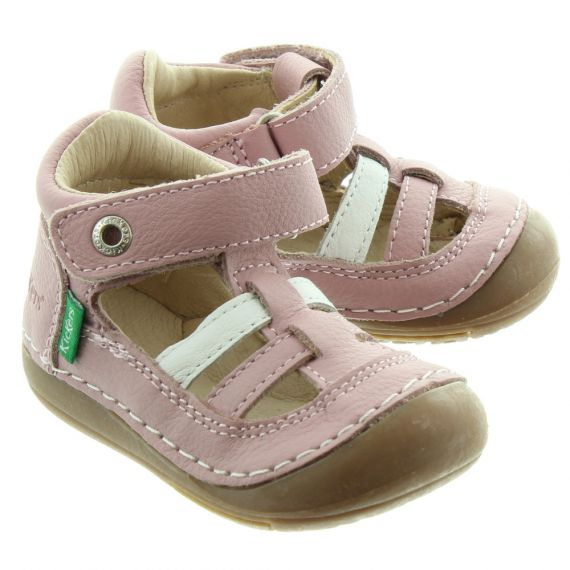 KICKERS Kids Sushy Closed Sandals In Pink