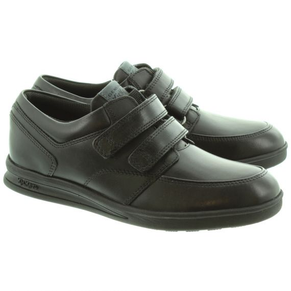 KICKERS Kids Troiko Strap Shoes in Black
