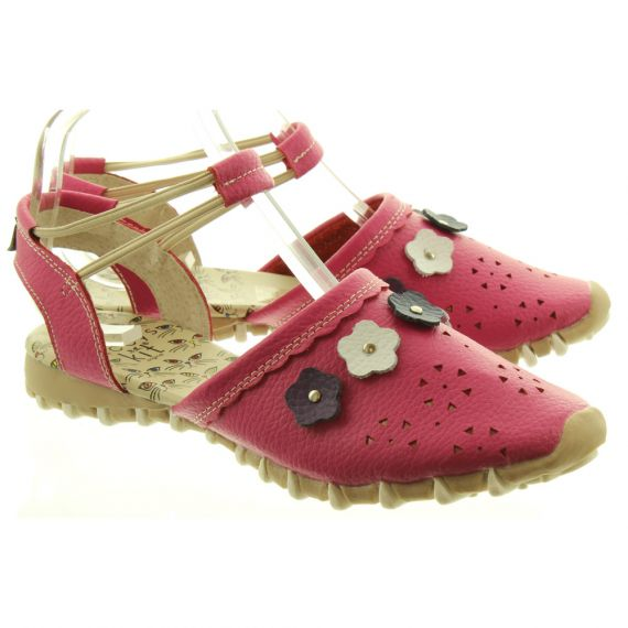 LACEYS Kit Full Toe Sandals in Fuschia Pink