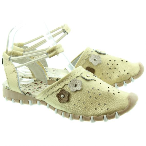 LACEYS Kit Full Toe Sandals in Gold