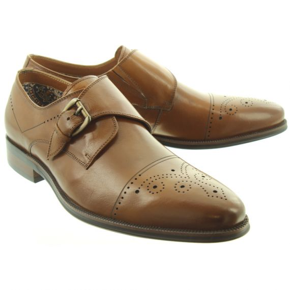 PAOLO VANDINI Mens Rambeau Buckle Shoes In Tan