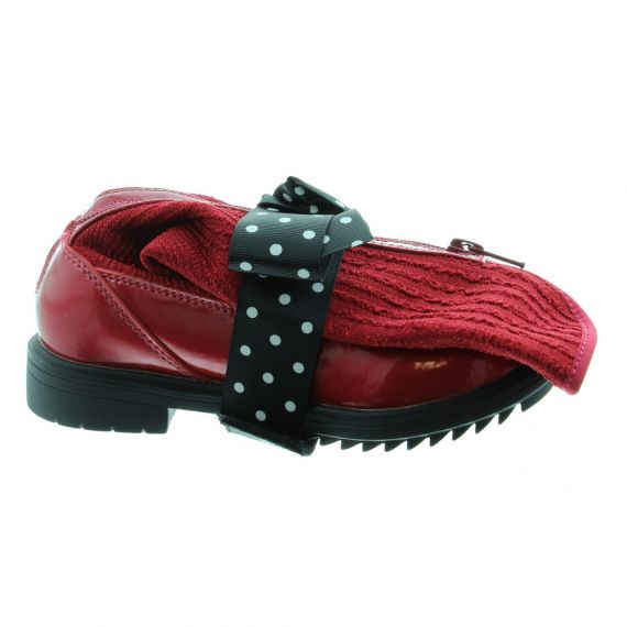 LELLI KELLY Girls LK3656 Magiche Folding Boots In Red Patent