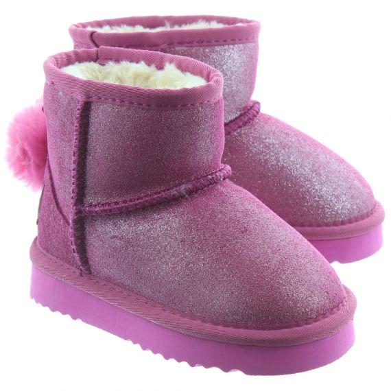 LELLI KELLY Kids LK3680 Valentine Ankle Boots In Pink
