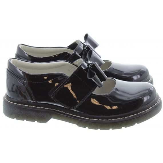LELLI KELLY Kids LK8279 Tracy Bow Bar Shoes In Black Patent