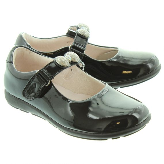 LELLI KELLY Kids LK8304 F Mandy Bow Changeable Strap Shoes In Black Patent