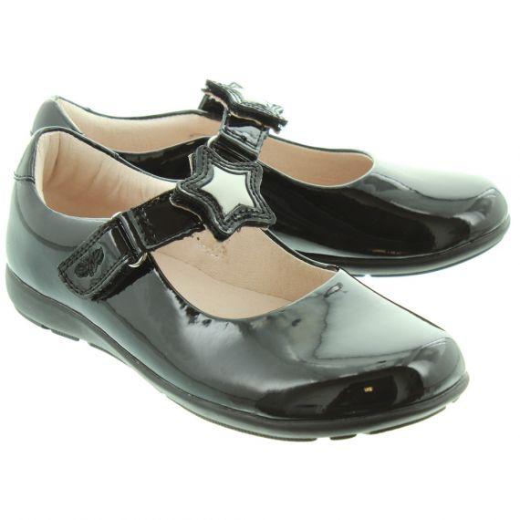 LELLI KELLY Kids LK8600 F Star Colourissima Shoes In Black Patent