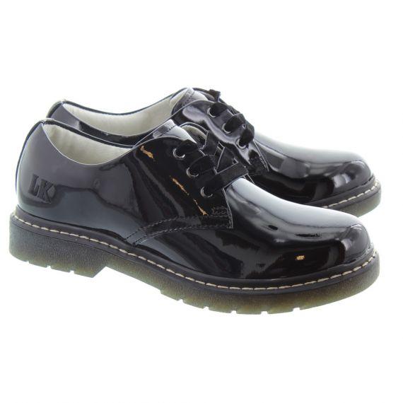 LELLI KELLY LK8287 Rochelle School Shoes in Black Patent