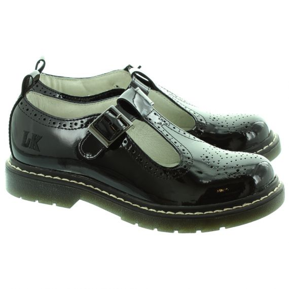 LELLI KELLY LK8292 Meryl Brogues School Shoes in Black Patent