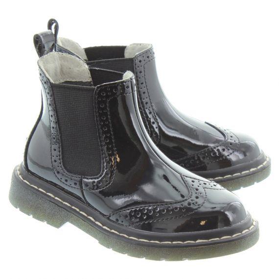 LELLI KELLY LK8294 Noelle Chelsea Boots In Black Patent