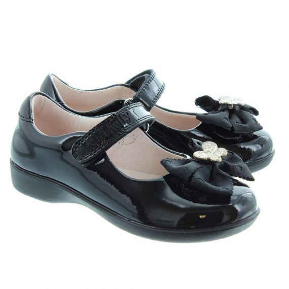 LELLI KELLY LK8321 E Width Tallula Hairclip Shoes In Black Patent