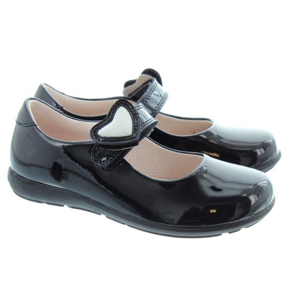 LELLI KELLY LK8500 F Width Colourissima Dolly Shoes In Black Patent