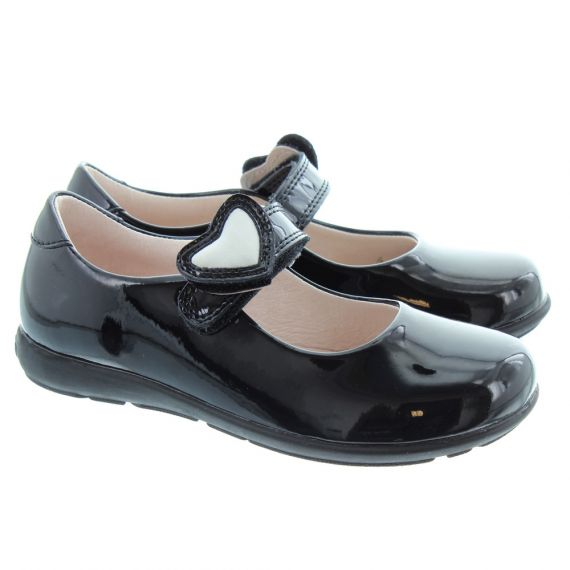 LELLI KELLY LK8540 G Width Colourissima Dolly Shoes In Black Patent