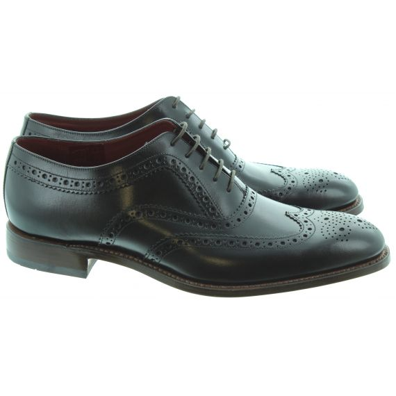 LOAKE Mens Fearnley Brogue Shoes In Black