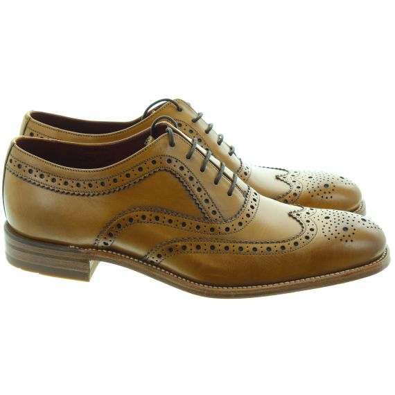 LOAKE Mens Fearnley Brogue Shoes In Tan