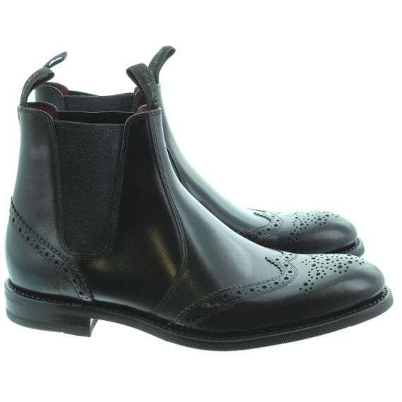 LOAKE Mens Hoskins Chelsea Boots In Black
