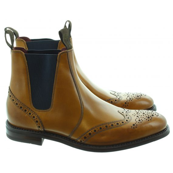 LOAKE Mens Hoskins Chelsea Boots In Tan