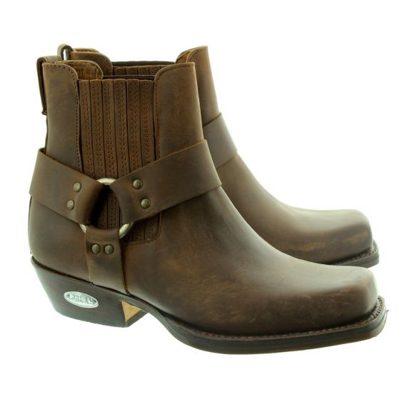 LOBLAN 096 Western Ankle Boots in Brown